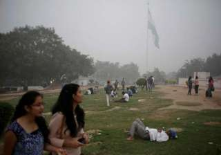 An Indian man rests in a public park enveloped by thick smog in New Delhi, India, Saturday, Nov. 5, 2016. According to one advocacy group, government data shows that the smog that enveloped New Delhi this past week was the worst in the last 17 years. The concentration of PM2.5, tiny particulate pollution that can clog lungs, averaged close to 700 micrograms per cubic meter. That's 12 times the government norm and a whopping 70 times the WHO standards.