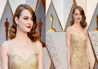 Hollywood actress Emma Stone, who won the Oscar Award in the best actress category for her fabulous performance in the film 'La La Land', looked effortlessly gorgeous at the 89th Annual Academy Awards at Highland Center in Hollywood, California