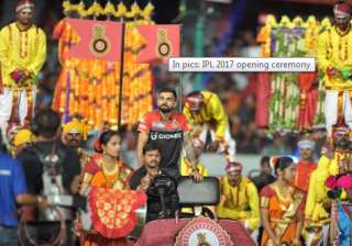 It was the first in a series of eight opening ceremonies, one in each hosting venue. This is the first time in the IPL's history that the organisers have decided to provide some glamour quotient before the beginning of the first match in all the venues. In pictures Royal Challengers Bangalore captain Virat Kohli can seen entering the opening ceremony.