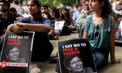 People protesting over the death of journalist Gauri Lankesh