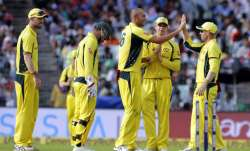 Australia spinner - Ashton Agar celebrates the dismissal of