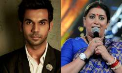 Rajkummar Rao and Smriti Irani