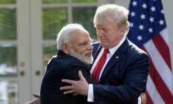 PM Narendra Modi with US President Donald Trump.