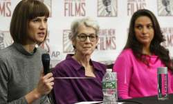 Rachel Crooks, left, Jessica Leeds, center, and Samantha