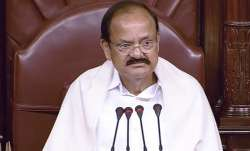 Naidu also stood up while reading out obituary references.