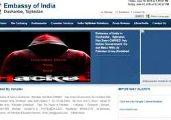 A screenshot of the website of the Indian Embassy,