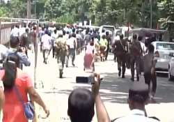 Farmers protested in presence of Petroleum Minister