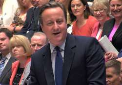 British PM David Cameron during his final session of prime
