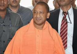 CM Adityanath arrives for a meeting with police officers at- India Tv