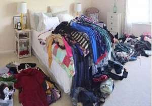 Pile of the sellers wife's clothes- India Tv