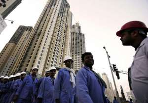 File pic - Indian workers at a construction site in Kuwait - India Tv