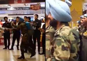 Indian Army Jawans receives a warm welcome at IGI - India Tv