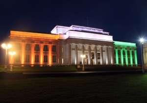 auckland war museum in indian tricolour india tv