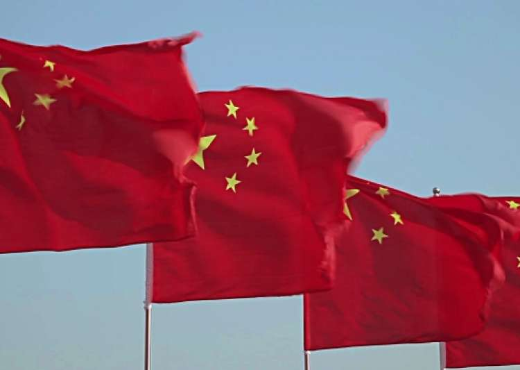 Chinese flags- India Tv