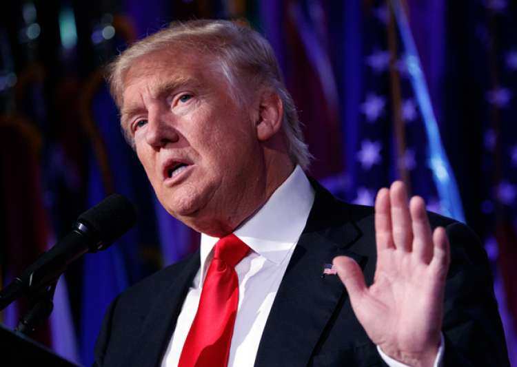 Donald Trump speaks during a rally in New York.- India Tv
