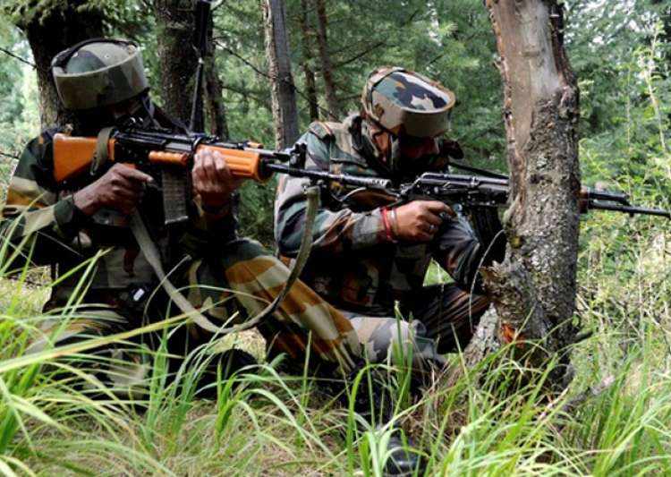 File pic - Indian jawans takes position near an Army base- India Tv