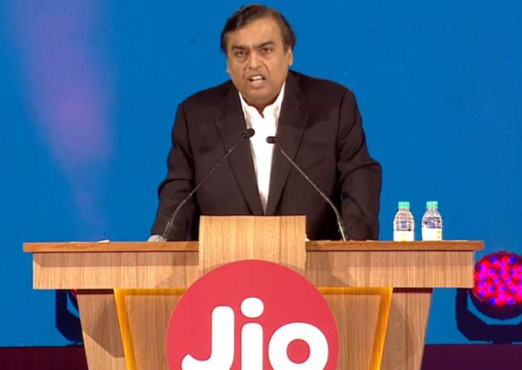 File pic - Mukesh Ambani speaks at the launch of Reliance- India Tv