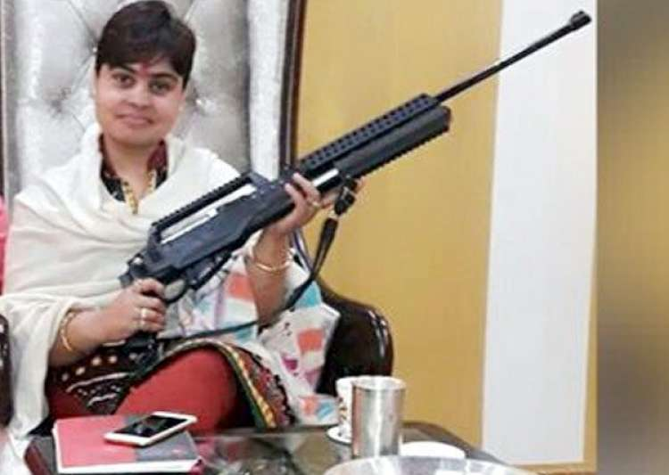 'Godwoman' Sadhvi goes on shooting spree at wedding,- India Tv