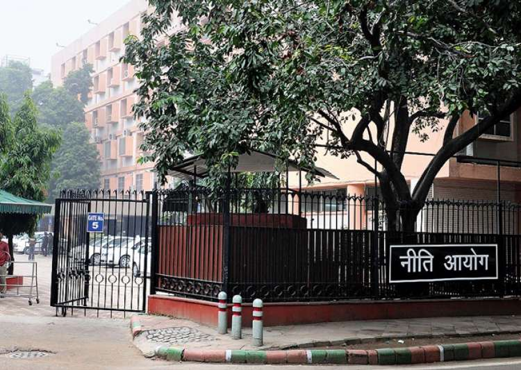 File pic - An outside view of NITI Aayog office in New- India Tv