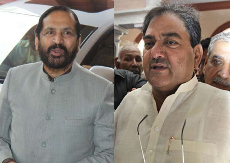 File pic - Suresh Kalmadi and Abhay Chautala- India Tv