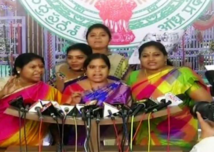 Ruckus in Andhra Assembly as women lawmakers nearly come to- India Tv