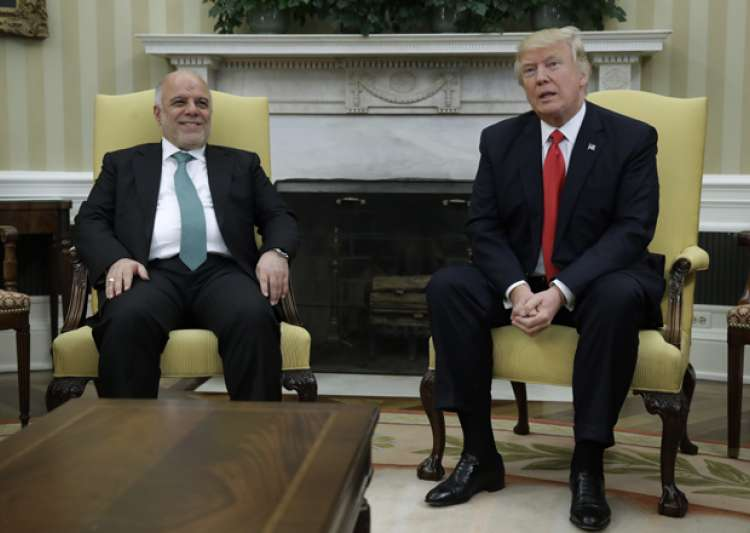 President Trump meets with Iraqi PM Haider al-Abadi in the- India Tv