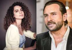 kangana ranaut and saif ali khan to share romantic