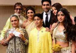 the complete bachchan family spotted at a wedding view pics