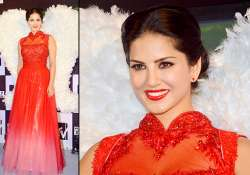 sexy sunny leone turns red hot at the launch of mtv