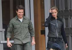 when tom cruise brought smile on emily brunt face after she