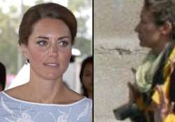 kate was sunbathing on terrace in full view of the road