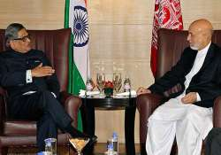 krishna meets karzai discusses peace aid to afghanistan