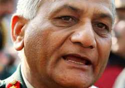 adarsh land belongs to army says general v k singh