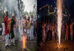 celebrations after modi s swearing in congratulations pour