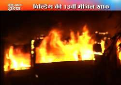 fire guts 13th floor of gulmohar heights in mumbai