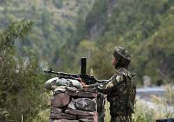 pak army targets 5 indian posts along loc violates ceasefire