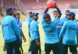 india vs sri lanka visitors train hard ahead of 2nd odi