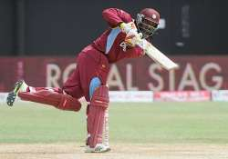injured chris gayle out of odi series against india