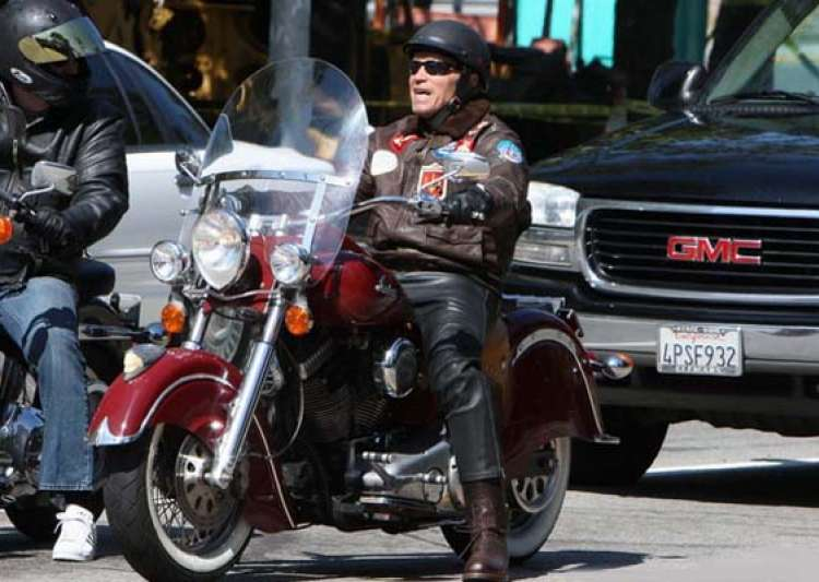 special arnold schwarzenegger and his motorcycles- India Tv