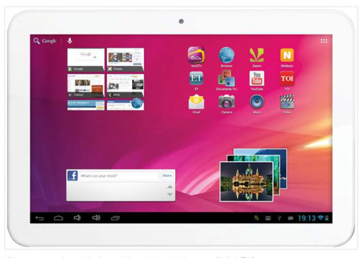 videocon launches 10 inch vt10 tablet with android 4.1 for- India Tv