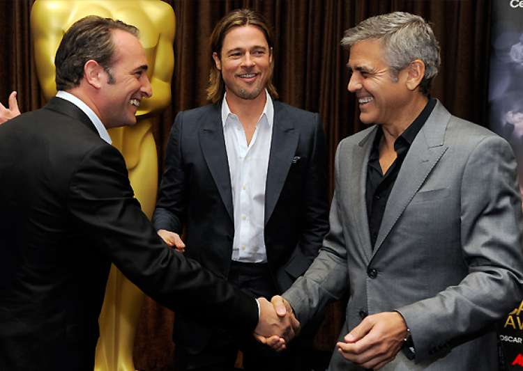clooney pitt other pals gather for oscar lunch- India Tv