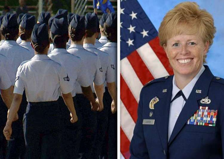 female officer leads us air force training- India Tv