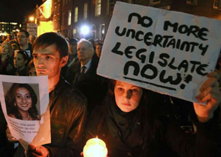 hundreds hold protest march outside irish parliament over- India Tv