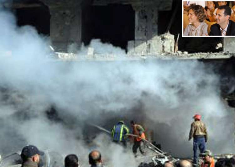 syria troops bomb towns eu grounds first lady- India Tv