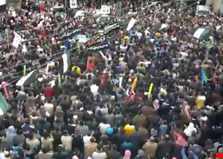 syrians rally in support of rebels as russia backs ally- India Tv