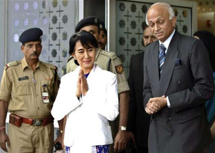 aung san suu kyi comes to india after 40 years- India Tv