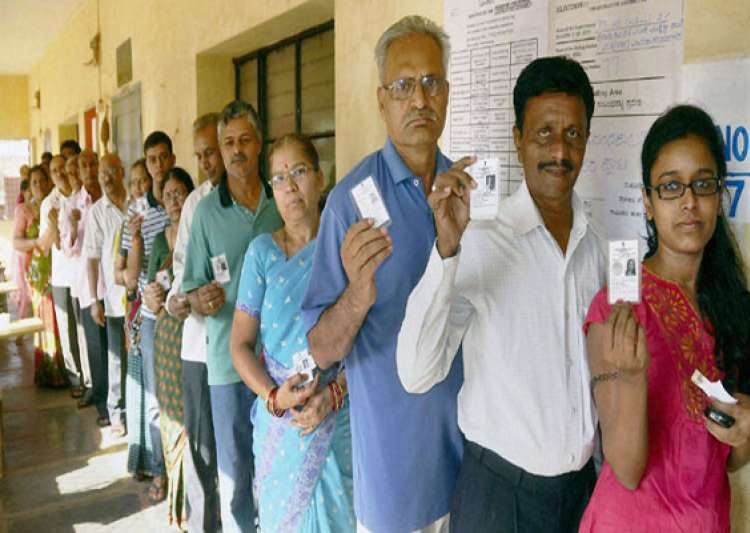 70.23 pc voter turn out estimated in peaceful karnataka- India Tv