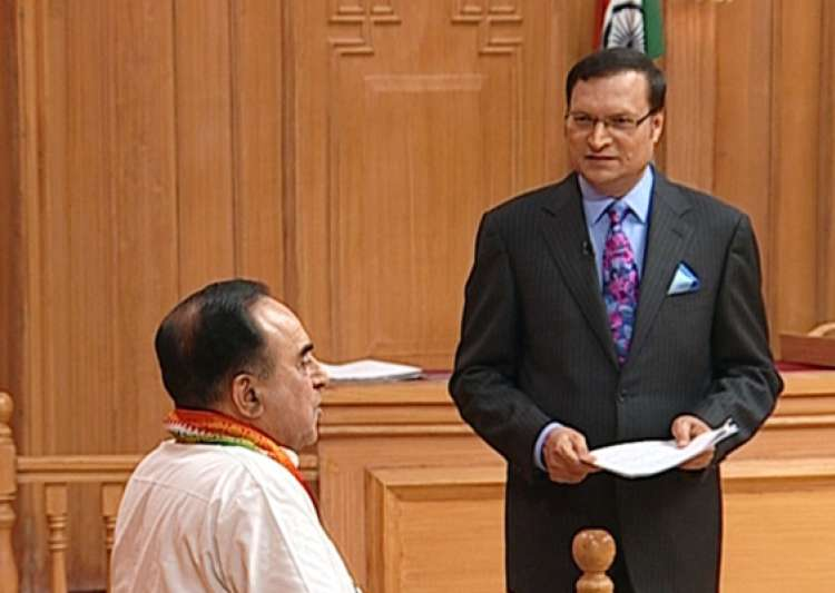 swamy tells adalat rahul is ineligible to become pm- India Tv