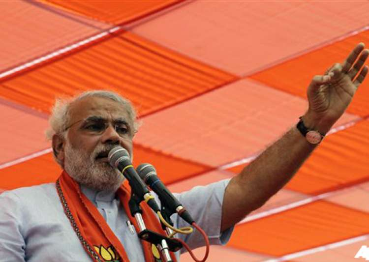india tv and c voter opinion poll modi all set to score a- India Tv