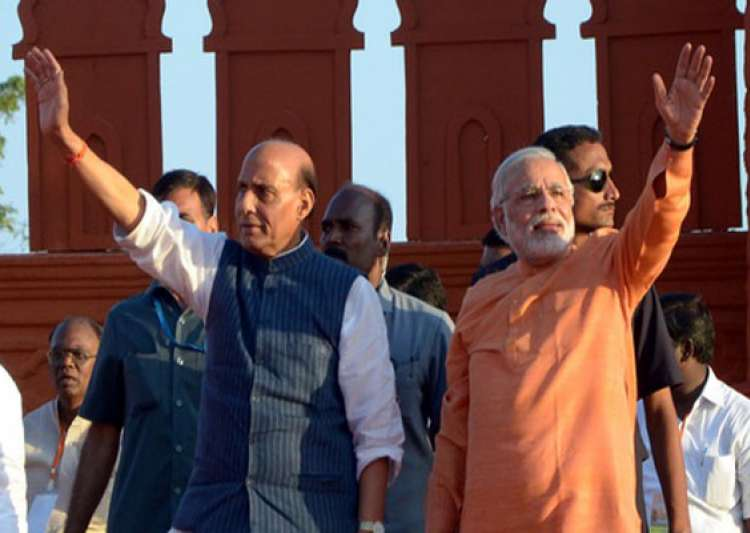 rajnath replaces modi as bjp campaign committee chief- India Tv